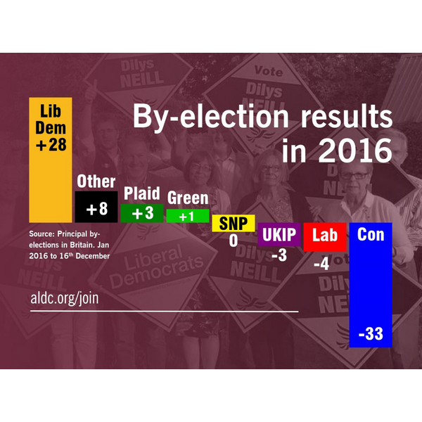 Council By-election results 2016 (ALDC)