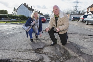 Dismay at potholes