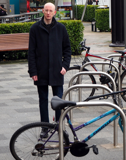 Lloyd Harris with Cycle Racks in Marlowes March 2018