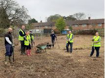 Volunteers at Windmill Rd allotments October 2020