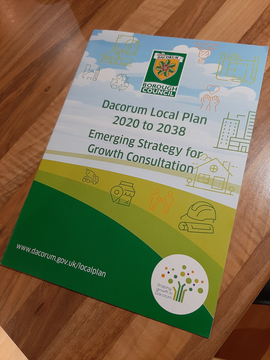 DBC Local Plan summary brochure front cover