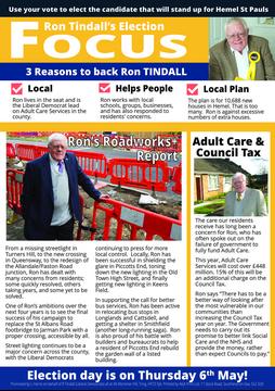Ron's Hemel St Pauls Election Focus page1
